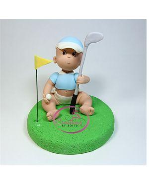 Golfer cake topper