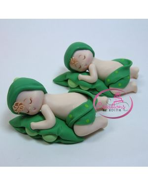 Baby pea in pod sleeping