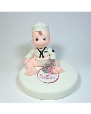 Baby sailor cake topper