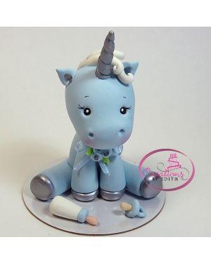 Boy unicorn cake topper