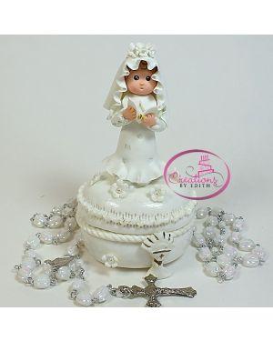 Communion girl rosary box