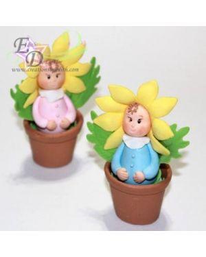Flower baby in a pot