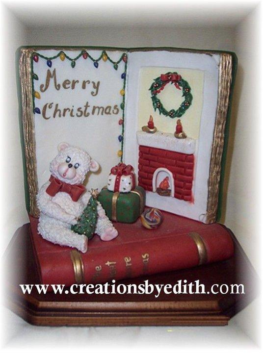 Christmas open book