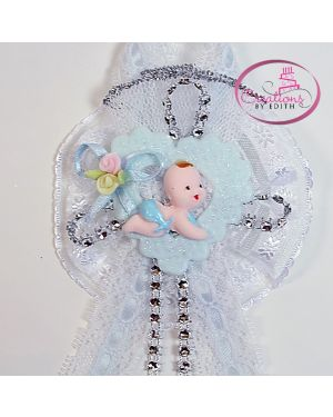 Baby crawling bling bling corsage