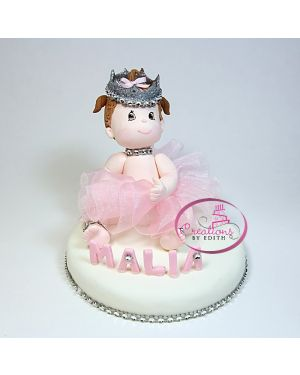 Baby princess cake topper
