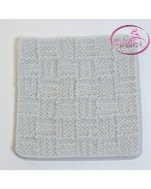 Knitting pattern silicone mold
