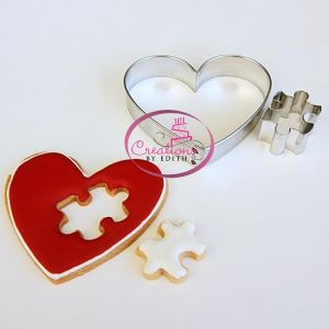 Heart with puzzle cutter