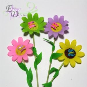 Flower picks with butterfly/4pcs.