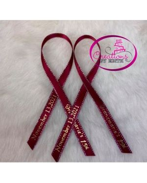 Personalized Printed Ribbon/Gold edge