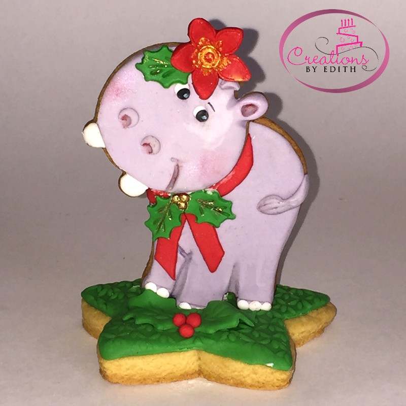 3D hippo cookie